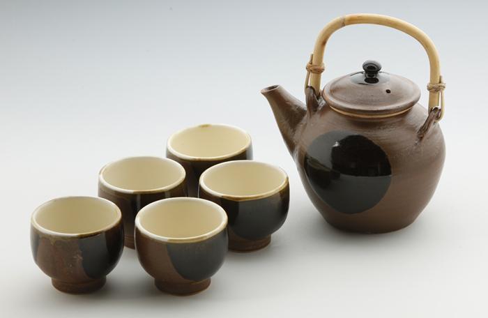 丸紋土瓶・番茶碗1