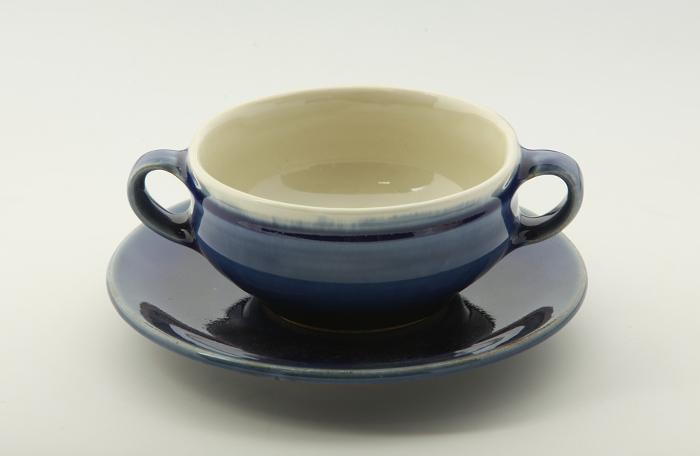 両手スープ碗・皿2