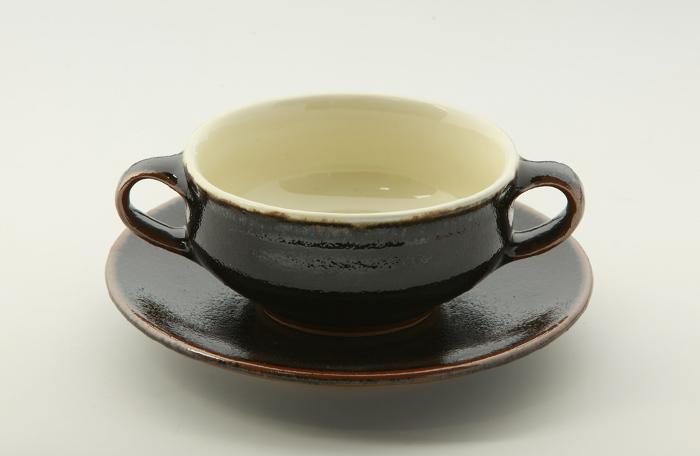両手スープ碗・皿3